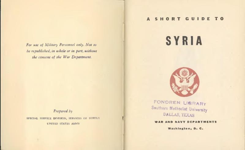 File:A short guide to Syria (1943).djvu