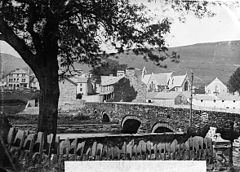 A view of Penmachno from the Machno Hotel NLW3363857.jpg