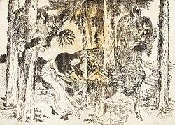 A woman makes a cursing ritual ceremony.jpg