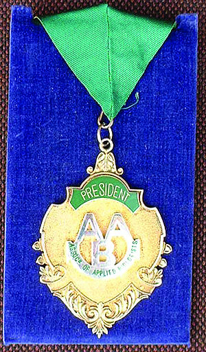 Association of Applied Biologists - AAB President's chain of honour