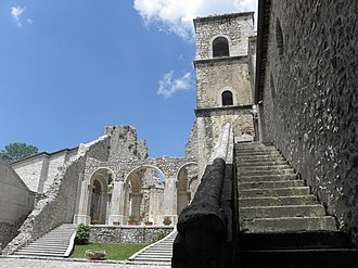 Sant'Angelo dei Lombardi - View of the Goleto Abbey.