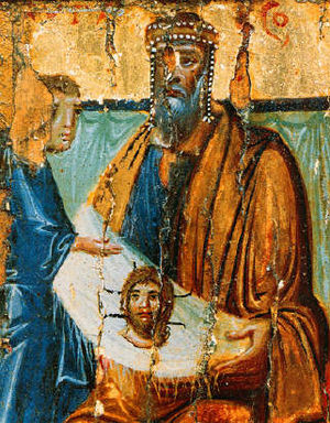 Image of Edessa - According to the account, King Abgar received the Image of Edessa, a likeness of Jesus.