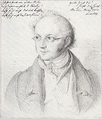 Abraham Mendelssohn Bartholdy, as drawn by Fanny's husband Wilhelm Hensel (Source: Wikimedia)