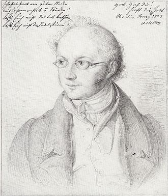 Mendelssohn family - Image: Abraham Mendelssohn Bartholdy Zeichnung von Wilhelm Hensel 1823