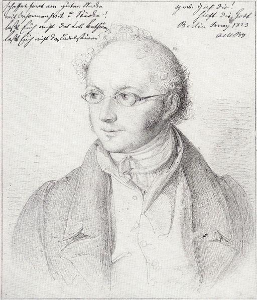 Abraham Mendelssohn Bartholdy - Zeichnung von Wilhelm Hensel 1823
