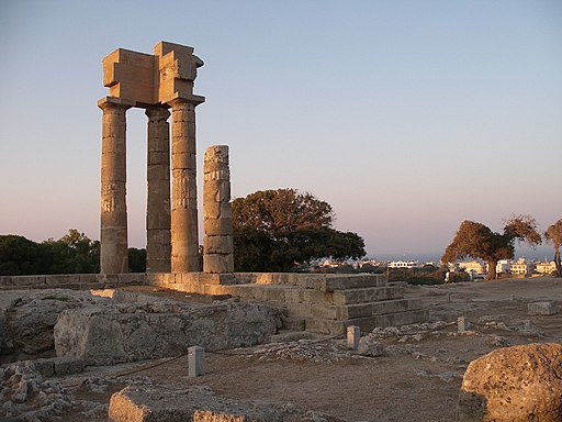 Acropolis of Rhodes Temple 3