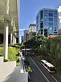 Adelaide Street west seen from Hobbs Park at level 4 of 480 Queen Street, Brisbane.jpg