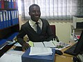 Administrative work in a Lusaka, Zambia hospital.jpg