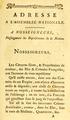 Adresse à l'Assemblée nationale pour les citoyens libres de couleur des Iles & colonies françoises, 18 octobre 1789, Titre.png