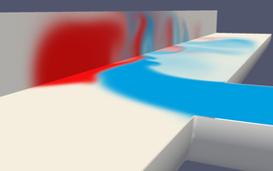Multicomponent flow simulation