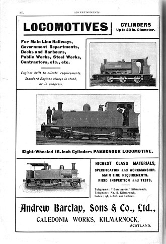 Andrew Barclay Sons & Co. - Advertisement from 1905
