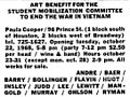 Advertisement for benefit show at Paula Cooper, The New York Times, 1968.jpg