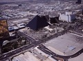 "Aerial view of Las Vegas, Nevada, with a focus on the Luxor Hotel ""pyramid"" LCCN2011636337.tif"