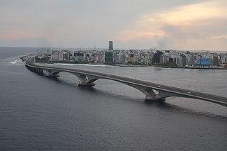 Sinamalé Bridge Bridge connecting Malé and Hulhumalé in the Maldives