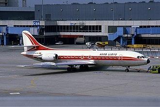 Aero Lloyd - An Aero Lloyd Caravelle at Frankfurt Airport, Germany. (1983)