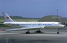 Aeroflot Tupolev Tu-104B at Arlanda, July 1972.jpg