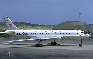Aeroflot accidents and incidents in the 1970s - An Aeroflot Tupolev Tu-104B at Arlanda Airport, Stockholm, Sweden. (1972)