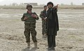 Afghan National Army Brig. Gen. Ahmed Habibi, left, the commander of the 1st Brigade, 205th Corps, talks with a resident near the village of Sperwan, Panjwai district, Kandahar province, Afghanistan, April 1 120401-A-OR326-031.jpg
