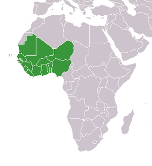 West Africa On World Map West Africa   Wikipedia