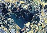 Aichi-ike water reservoir Aerial photograph.1987.jpg