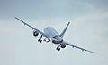 Airbus A320-111 F-WWDC Airbus Industrie, Farnborough UK, September 1988. (5589341769).jpg