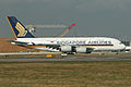 Airbus A380-841 9V-SKI Singapore Airlines (6911854746).jpg