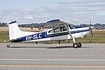 Aircair Aviation (VH-SLC) Cessna A185F Skywagon taxiing at Wagga Wagga Airport.jpg