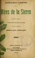Aires de la Sierra - zarzuela en un acto, dividido en tres cuadros, en verso y prosa (IA airesdelasierraz4041camp).pdf