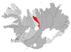 Location of the Municipality of Akrahreppur