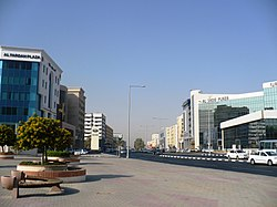 Al Fardan Plaza (left) and Al Sadd Plaza (right)
