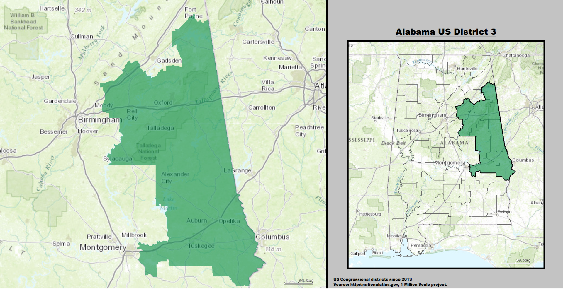 alabama 39 s 3rd congressional district wikipedia. Black Bedroom Furniture Sets. Home Design Ideas