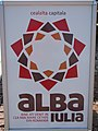 Alba Carolina Fortress 2011 - The Other Capital Sign.jpg