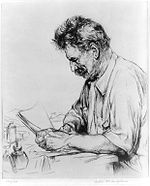 Etching of Albert Schweitzer