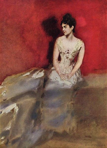 File:Albert von Keller - Porträt der Frau des Künstlers, 1887.jpg