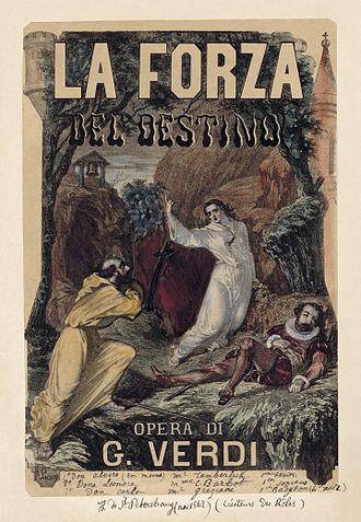 La forza del destino - c. 1870 poster by Charles Lecocq