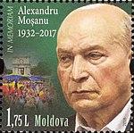 Alexandru Moşanu 2018 stamp of Moldova.jpg