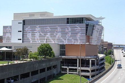 The Muhammad Ali Center, alongside Interstate 64 on Louisville, Kentucky's riverfront AliCenter.jpg