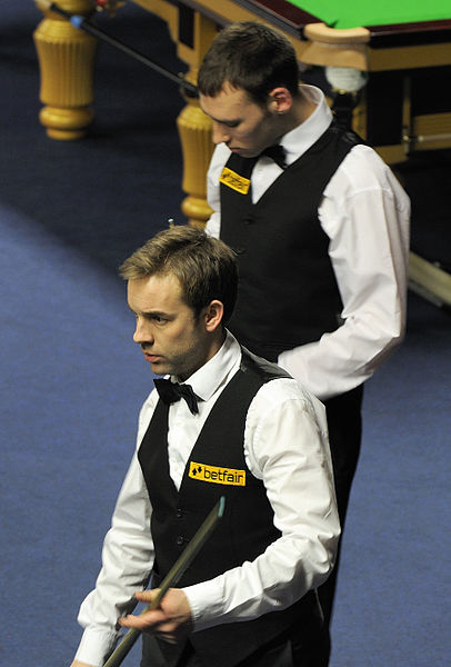 File:Ali Carter and Fraser Patrick at Snooker German Masters (DerHexer) 2013-01-30 01.jpg