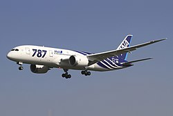 All Nippon Airways Boeing 787-8 Dreamliner JA801A OKJ in flight.jpg