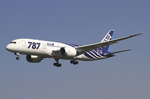 All Nippon Airways Boeing 787-8 Dreamliner JA801A OKJ in flight