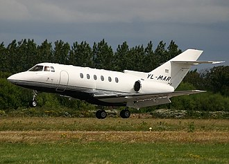 Hawker 800 - Hawker 800XP owned by Allaero at Blackpool Airport 2004.