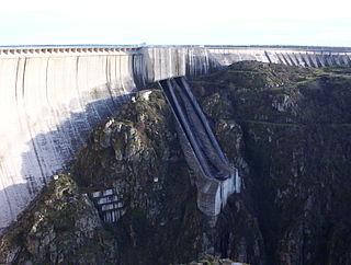 Almendra Dam dam in Spain