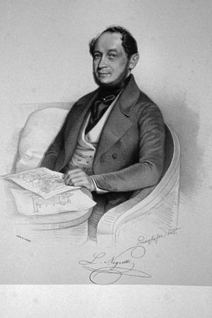 Alois Negrelli - Alois Negrelli, lithography by August Prinzhofer, 1845