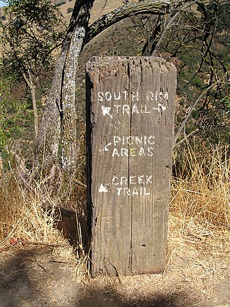 Alum Rock Park - Classic carved trail sign