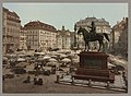 Am Hof, Vienna, Austria, with open air market and equestrian statue in foreground LCCN92522634.jpg