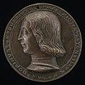 Amadio da Milano, Borso d'Este, 1413-1471, Marquess of Este (obverse), c. 1441, NGA 44367.jpg