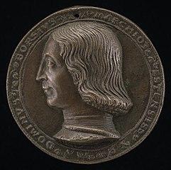 Borso d'Este, 1413-1471, Marquess of Este [obverse]