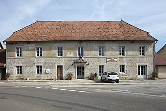 Amancey - The town hall in Amancey