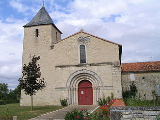 Ambérac - The church of Saint-Etienne