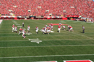 Ameer Abdullah - Abdullah crossing the 20 yard line.
